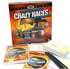 STUART HALL PRESENTS CRAZY RACES DVD BOARD GAME - BRAND NEW AND SEALED