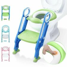 Kids Trainer Toilet Potty Training Seat Baby Toddler Chair Padded Seat Ladder Us