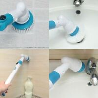 360 Electric Cleaning Brush Head Turbo Scrub Handheld 3 Heads For Multi-Purpose