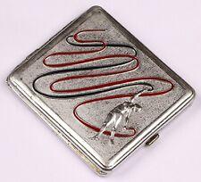 SOVIET Cigarette case BOX Rhythmic gymnastics USSR Dance gymnast with a ribbon R