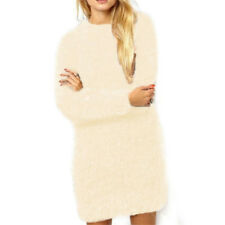 UK Womens Winter Warm Long Sleeve Sweater Ladies Jumper Pullover Tops Mini Dress