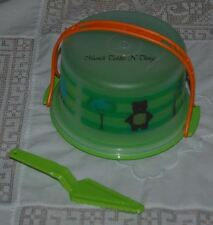 TUPPERWARE ECO KIDS CAKE TAKER & SERVER SET