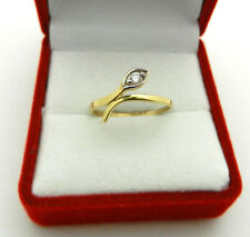 Real 14k Yellow Gold Snake Shape Ring size 6.25