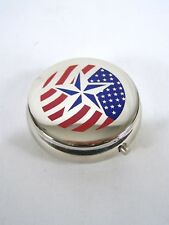 Portable Mini Sealed Metal Ashtray American Cigarette Travel Pocket Purse Star