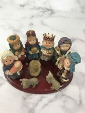 Coach House Gifts Christmas Nativity Set On Plaque Table Top Display Holiday