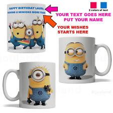 BijouLand- Personalized Birthday Mug with Minions, Coffee Mug, 11oz, Made In USA