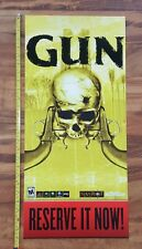 GUN Reserve it Now Video Game Store Display Poster 2005 Neversoft Activision