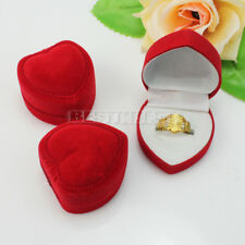 3Pcs Jewelry Gift Box Ring Case Earrings Engagement Display Holder Organizer