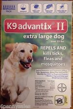 K9 Advantix Ii 100 Flea Medicine Extra Large Xl Size Dog 6 Month Supply Pack K-9