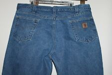 Men's~CARHARTT Relaxed Fit Jeans~B460~MEDIUM Wash~ZIP FLY~Heavy Cotton~42 x 32