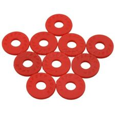 10Pcs Red Rubber Guitar Strap Lock Block for Acoustic Electric Guitars