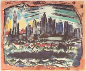 """Lower Manhattan from the River 