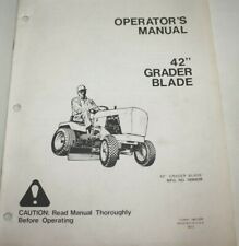 """Manual, 42"""" Grader Blade for Garden Tractor, Operator's Manual, Used,#1690038"""