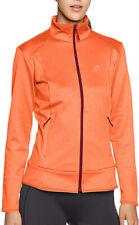 Salomon Discovery Full-Zip Long Sleeve Womens Running Top - Orange