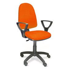 Poltrona ufficio studio direzionale girevole in tessuto arancio
