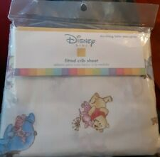 New Thinking Little Thoughts Vintage Disney Pooh Fitted Baby Crib Sheet