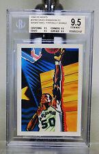"""1990 91 HOOPS David Robinson #378B Team Card BGS 9.5 """" RARE """" Pack Fresh !!"""