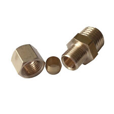"Brass Compression Fitting, Male Connector, 1/4"" OD*1/4""Male NPT"