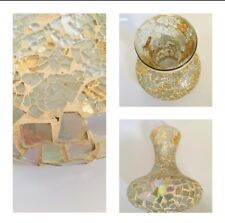 Decorative Vase Modern Glass Art Mosaic Bulbous Stands 8 Inch