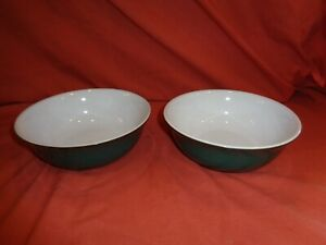 Denby Stoneware Greenwich  Cereal Soup Bowl x 2