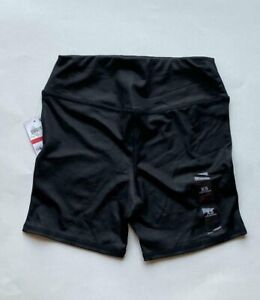 NEW Material Girl Juniors Women's Active Shorts Black Stretch Size XS
