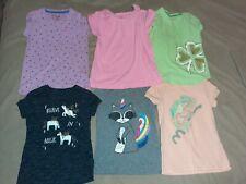 Lot of 6 Girls Short Sleeve Shirts Size 6/6x