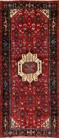 Vintage Geometric 10 ft Oriental Runner Geometric Tribal Vegetable Dye 4x10