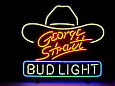 "New Bud Light George Strait Budweiser Beer Neon Sign 20""x16"""