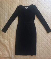 Laura Ashley Occasion Black Pencil Elegant Dress Sz 8 (C