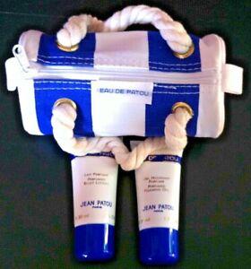 Jean Patou Perfumed Foaming Gel + Body Lotion + Nautical Make-up Bag Travel Set