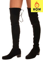 RRP €875 STUART WEITZMAN TIELAND Leather Over Knee Boots Mismatch Size L39 R38