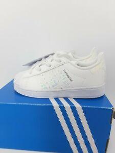 Boy's Adidas Originals Infant Leather White  Superstar Trainers  SZ k 6½ EU 23½