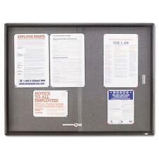 Quartet Enclosed Sliding Door Fabric Bulletin Boards - 2364S