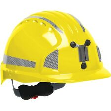 JSP Mining Hard Hat Cap Style with 6 Point Ratchet Suspension, Yellow