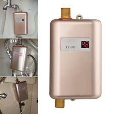 3000W 110V Instant Electric Tankless Hot Water Heaters Shower Kitchen Bathroom