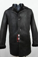 New 100% Genuine Real Shearling Leather Sheepskin Men Coat Jacket Trench S-8XL