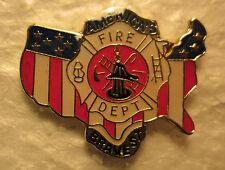 "FIREFIGHTERS ""AMERICA'S BRAVEST""  Brass Hat Pin"