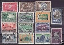 Liberia # O113-26 Complete Set of 1921 Fauna