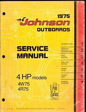 1975 JOHNSON 4W75, 4R75 4HP SERVICE MANUAL
