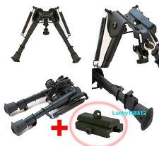 "6""-9"" Rifle Bipod Foregrip Folding Picatinny rail w/ Sling Mount Adapter 5 Level"