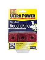 The Big Cheese Ultra Power Block Bait Rodent Killer 6x20g Mouse Bait Rat Poison