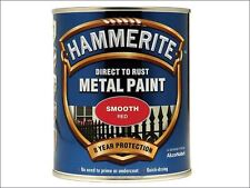 Hammerite - Direct to Rust Smooth Finish Metal Paint Red 750ml