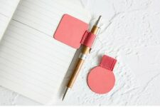 1PCS Self-adhesive PU Leather Pen Clip Pencil Elastic Loop for Notebooks Journal