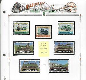 RAILROADS (D)...Jamaica...#324-26 & 583-86...Mint NH...1970/84...SCV $15.80