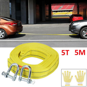 5 TON 5M Tow Rope Towing Pull Strap Heavy Duty Offroad Recovery Quality Polyeste