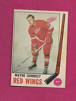 1969-70 OPC # 60 RED WINGS WAYNE CONNELLY GOOD CARD  (INV#0638 )