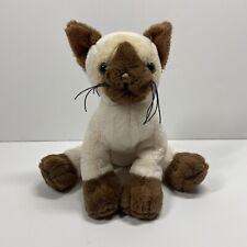 "Ganz Webkinz Siamese Plush Cat Stuffed Animal Soft Toy 8"""