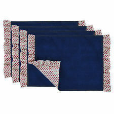 The Pioneer Woman Denim Polka Dot Ruffle Placemats Set of 4 Reversible NEW