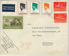 62355 -  INDONESIA - POSTAL HISTORY -   COVER to HOLLAND 1965 -  TENNIS