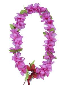 Hawaiian Lei Party Luau Floral Princess Plumeria Silk Dance Flower Pink